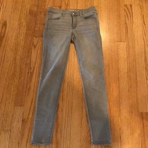 American Eagle Gray Super Stretch Jeggings